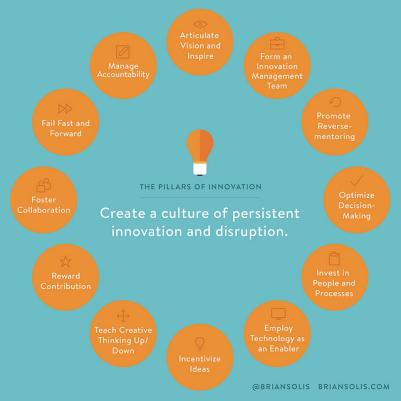 Twelve Pillars of Innovation, Solis, 2014 (See also What's the Future of Business, Solis, 2013)