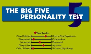 One Individual's Big Five Trait Score