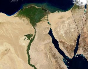 Egypt's Nile River Delta, From Space