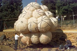 Mars Pathfinder Airbags. Being Tested at JPL in 1995