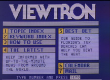 Viewtron Main Menu (1983-1986)
