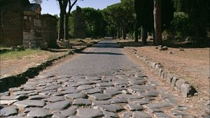 Appian Way (with two different paving stone sizes)