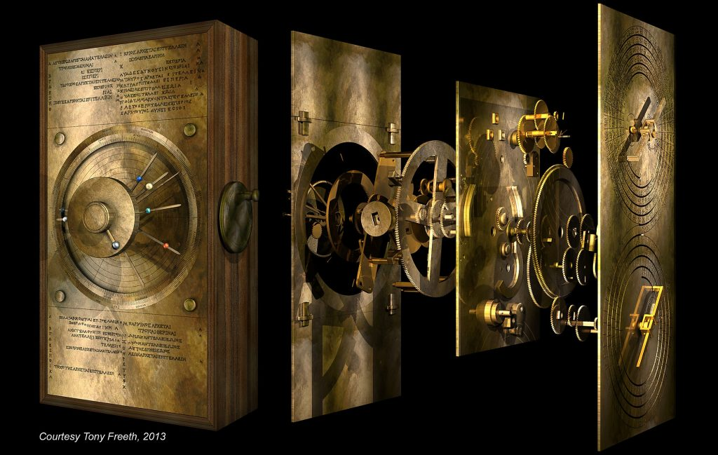 Digital Reconstruction of the Antikythera Mechanism (Courtesy Tony Freeth, 2013)