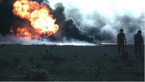 Kuwait Oil Fires, Set By Hussein, 1991