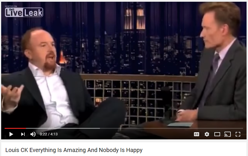 Louis CK, Late Nite with Conan O'Brien, 10.1.2008